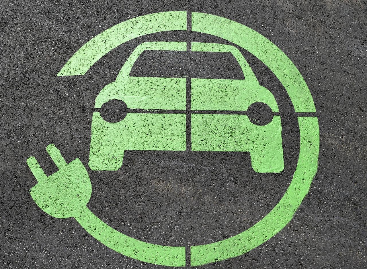 Electric car charging symbol